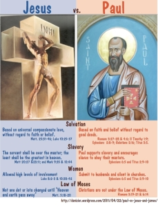 Paul contradicted Jesus on many key points
